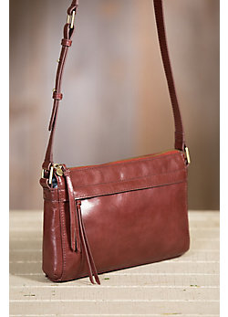 Hobo Tobey Leather Crossbody Handbag