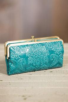 Hobo Lauren Embossed Leather Clutch Wallet
