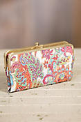 Hobo Lauren Regal Paisley Leather Clutch Wallet