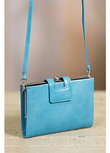 Hobo Brynn Leather Convertible Crossbody Clutch Handbag