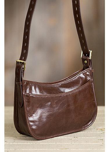 Hobo Chase Leather Crossbody Handbag