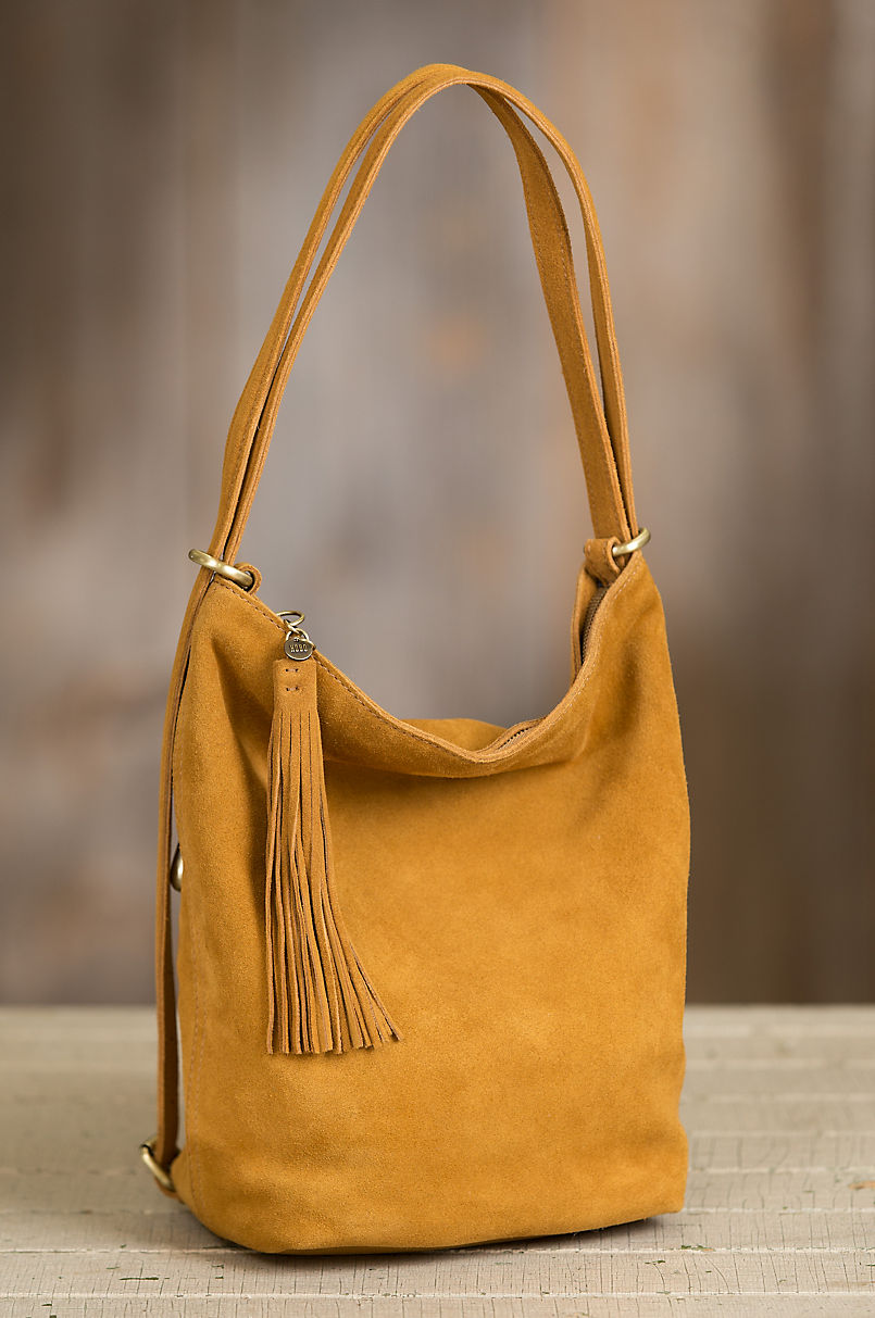 868a50b4d321e Hobo Blaze Suede Convertible Shoulder Bag Backpack