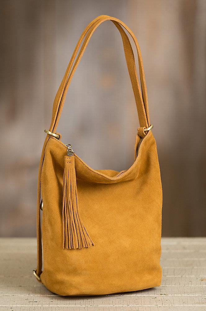 Hobo Blaze Suede Convertible Shoulder Bag Backpack