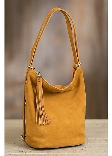 Hobo Blaze Suede Convertible Shoulder Bag Backpack