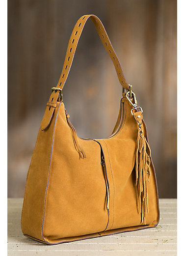 Hobo Marley Suede Shoulder Bag