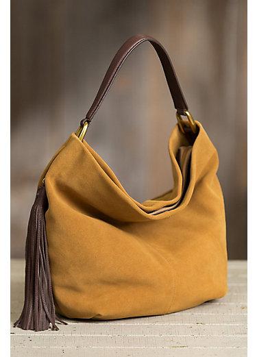 Hobo Meridian Suede Shoulder Bag