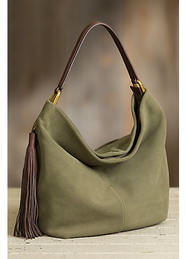 Hobo Meridian Suede Shoulder Bag