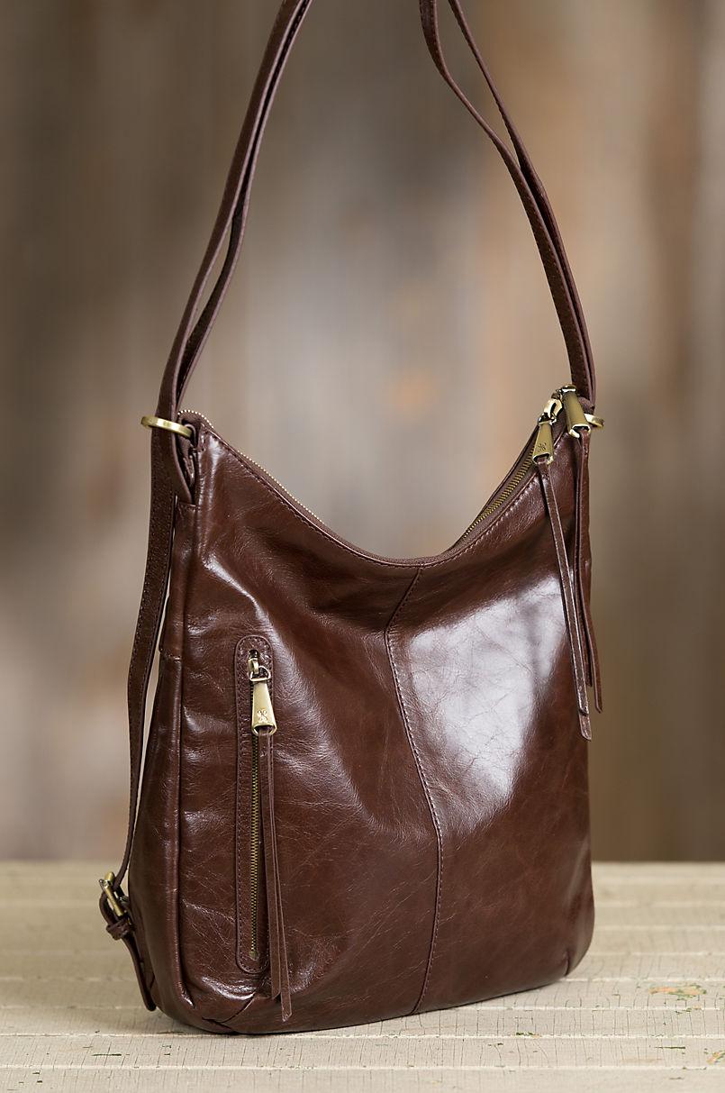73807aab5f Hobo Merrin Leather Convertible Shoulder Bag Backpack