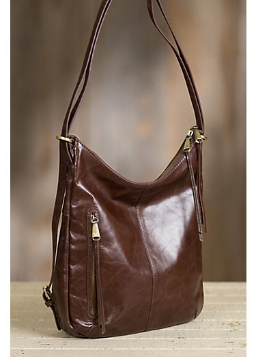 Hobo Merrin Leather Convertible Shoulder Bag Backpack
