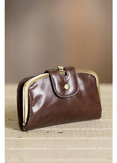 Hobo Halo Italian Leather Clutch Wallet