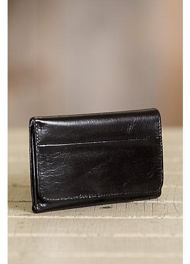 Hobo Jill Leather Tri-Fold Clutch Wallet
