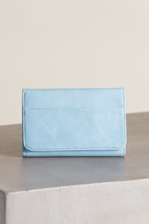 Hobo Jill Leather Trifold Clutch Wallet
