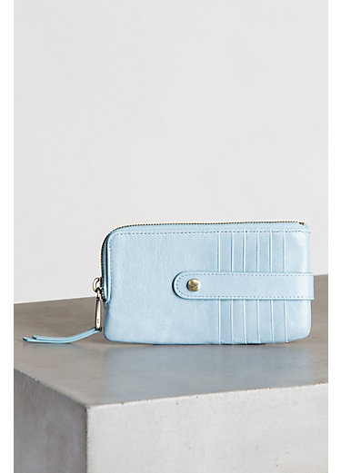 Hobo Flash Leather Credit Card Wallet Clutch