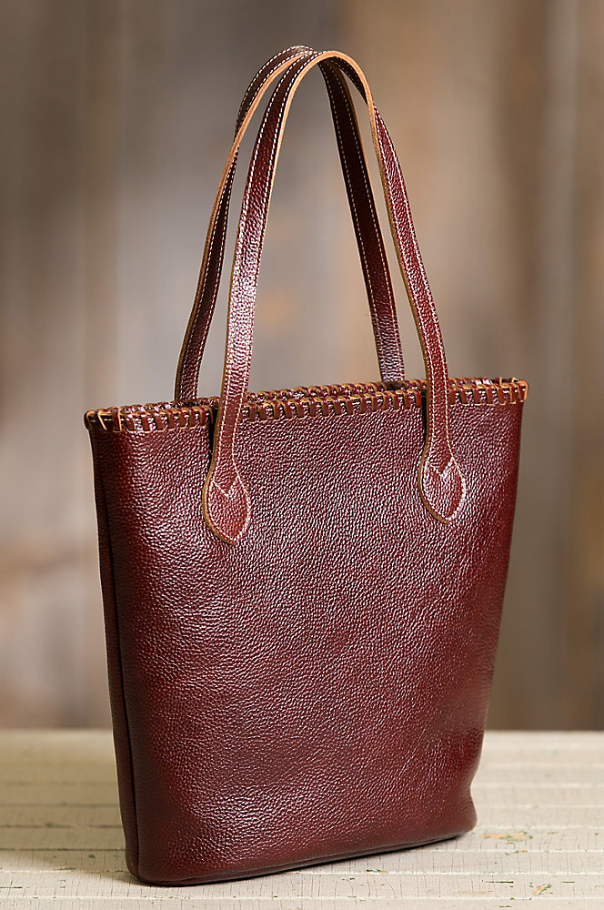 Lois Leather Shoulder Tote Bag