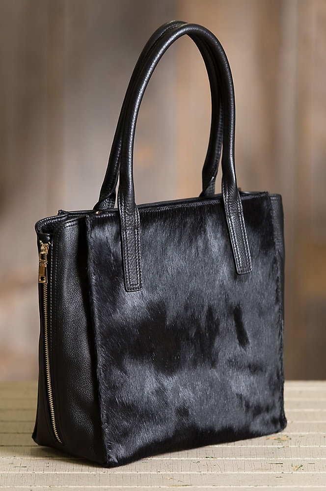 Bonnie Expandable Cowhide Leather Tote Bag