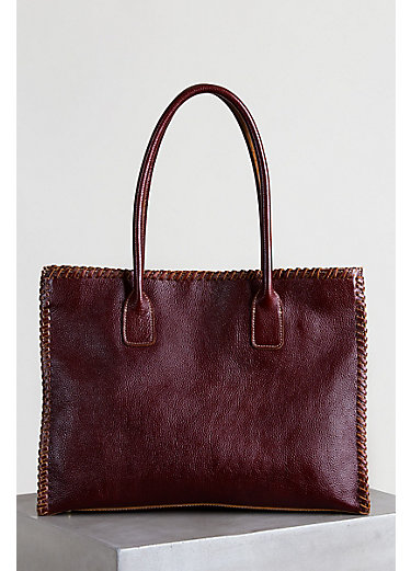 Tammy Pebbled Leather Tote Handbag