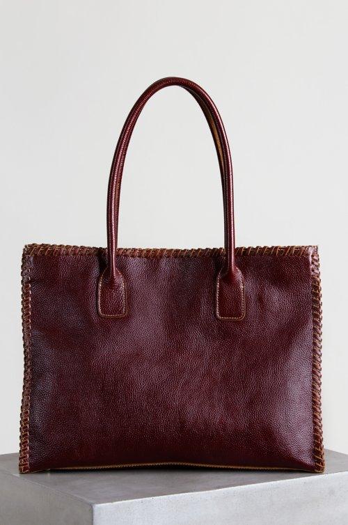 Tammy Pebbled Leather Tote Handbag