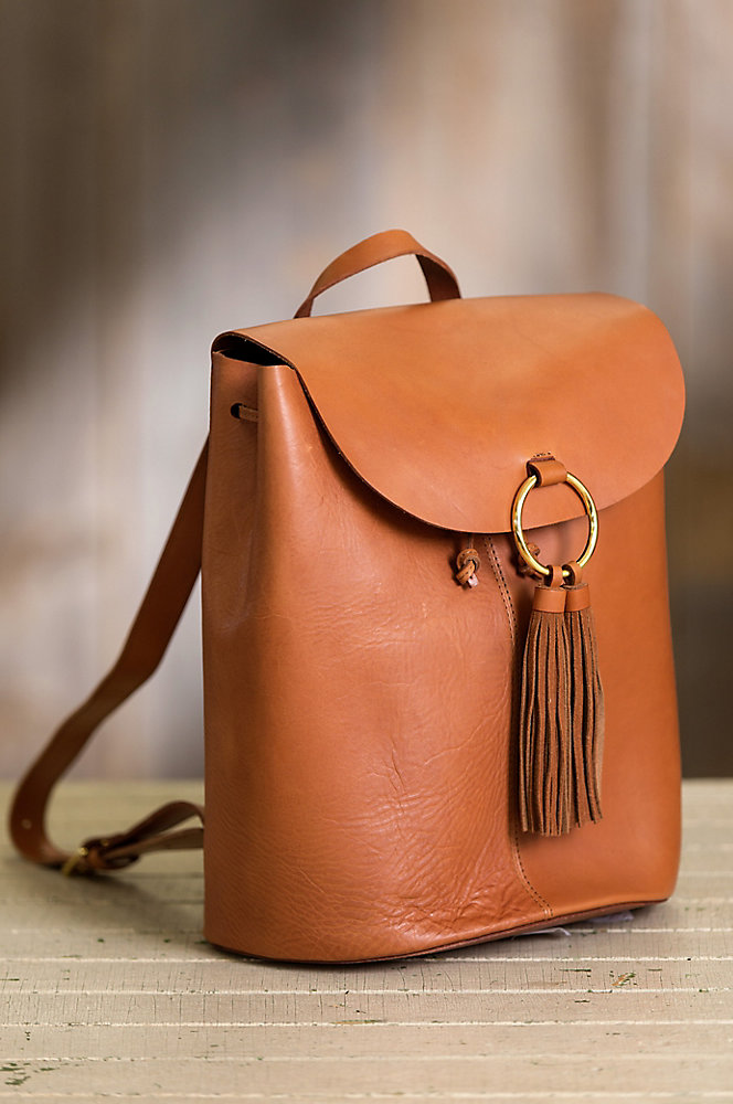 Horizon Argentine Leather Backpack Purse