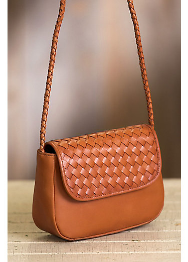 Horizon Woven Argentine Leather Crossbody Clutch Handbag