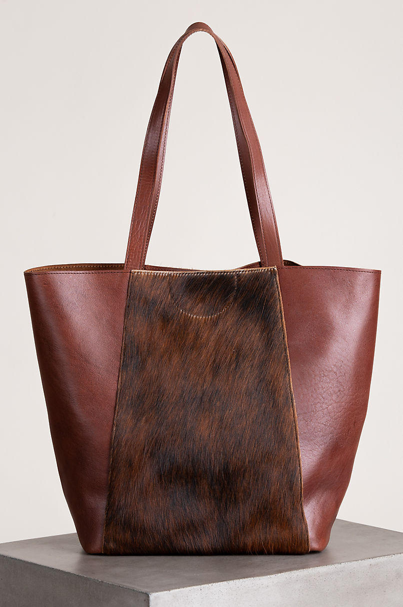 Sheridan Cowhide and Leather Tote Bag