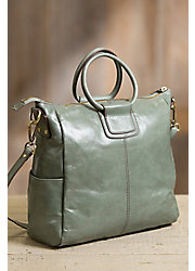 Hobo Sheila Leather Crossbody Tote Bag