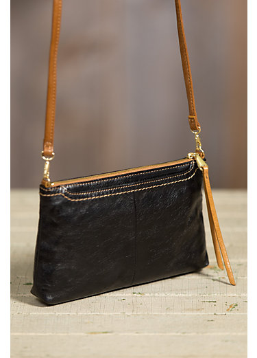 Hobo Darcy Leather Crossbody Clutch Handbag