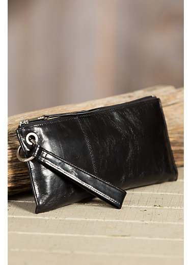 Hobo Vida Leather Wristlet Clutch Wallet