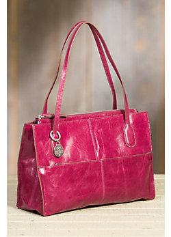 Hobo Friar Leather Handbag