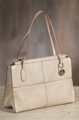 Hobo Friar Leather Handbag