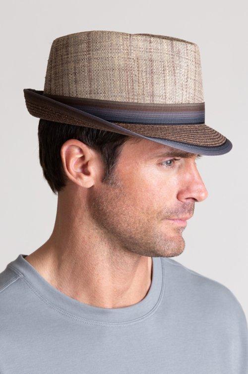 Overland Matte Raffia and Braid Fedora Hat