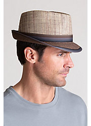 Matte Raffia and Braid Fedora Hat