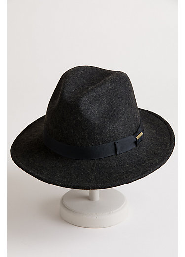 Crushable Wool Felt Fedora Hat