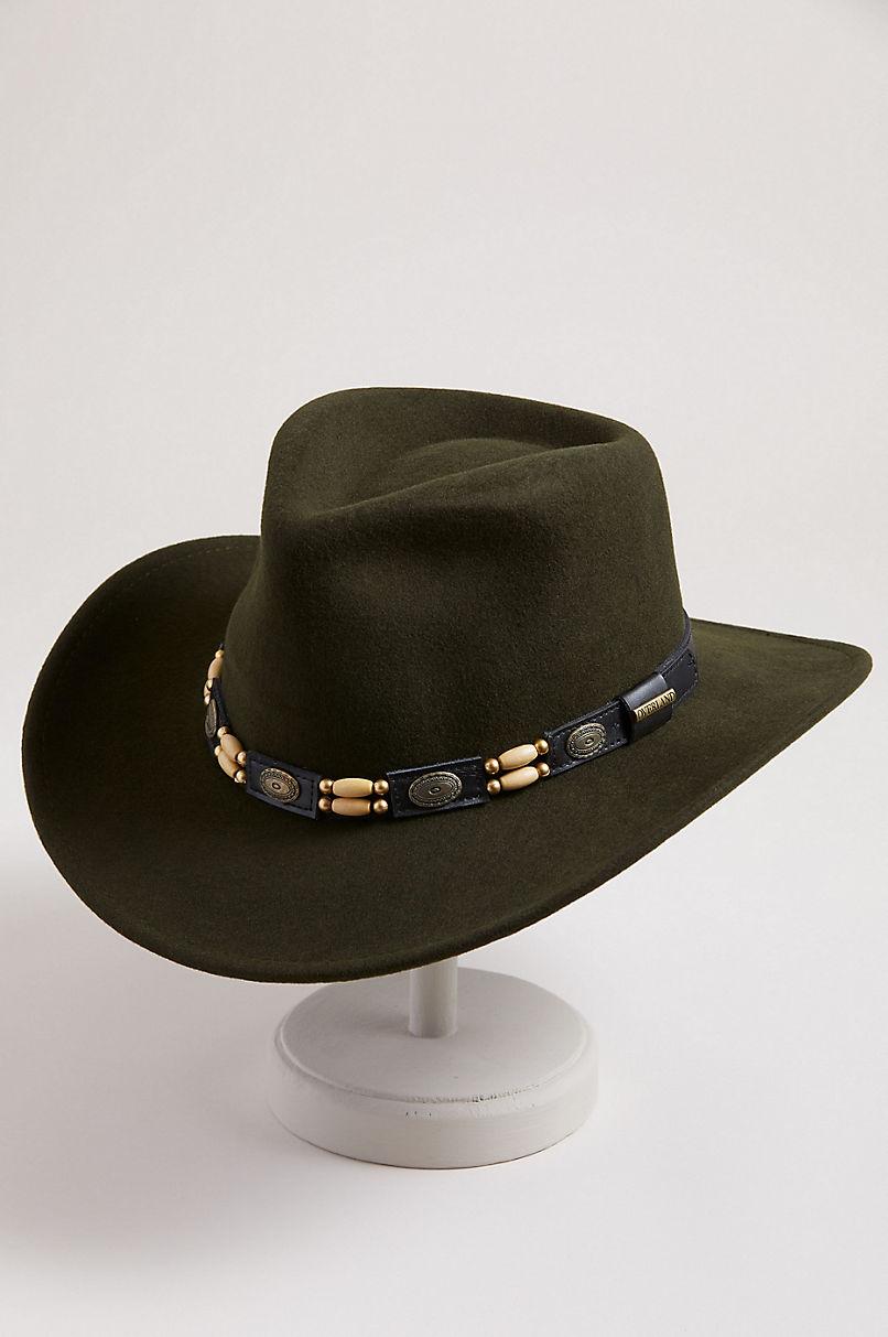 Overland Outback Crushable Wool Felt Cowboy Hat