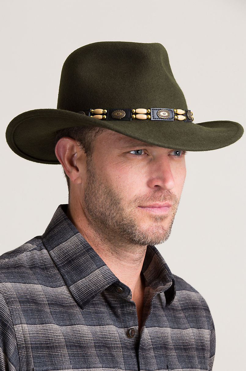 74c5e5572fb Overland Outback Crushable Wool Felt Cowboy Hat