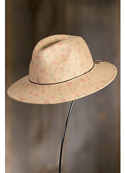 Maria Rose Printed Wool Rancher Hat