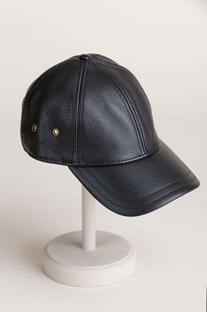 Overland Antique Leather Baseball Cap