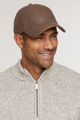 Stetson Antique Leather Baseball Cap