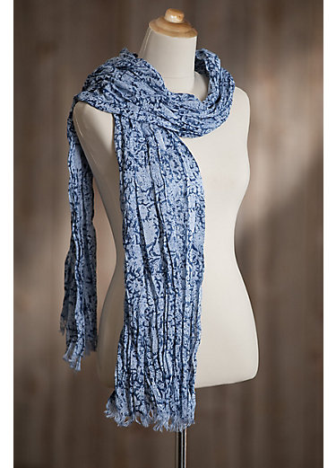Lightweight Wrinkle Cotton Scarf