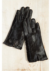 Women's Cashmere-Lined Cowhide and Lambskin Leather Gloves
