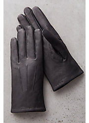 Men's Cashmere-Lined Lambskin Leather Gloves