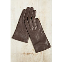 Edwardian Men's Accessories Mens Cashmere-Lined Lambskin Leather Gloves CHOCOLATEBROWN Size XLARGE 10 $79.00 AT vintagedancer.com