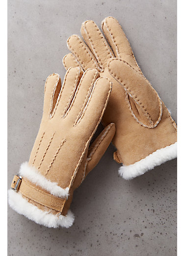 Women's Buckled Spanish Sheepskin Gloves