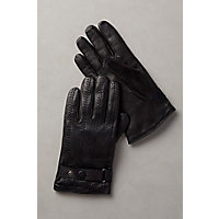 1940s Style Mens Clothing Mens Cashmere-Lined Lambskin Leather Gloves BLACK Size XLARGE 10 $85.00 AT vintagedancer.com