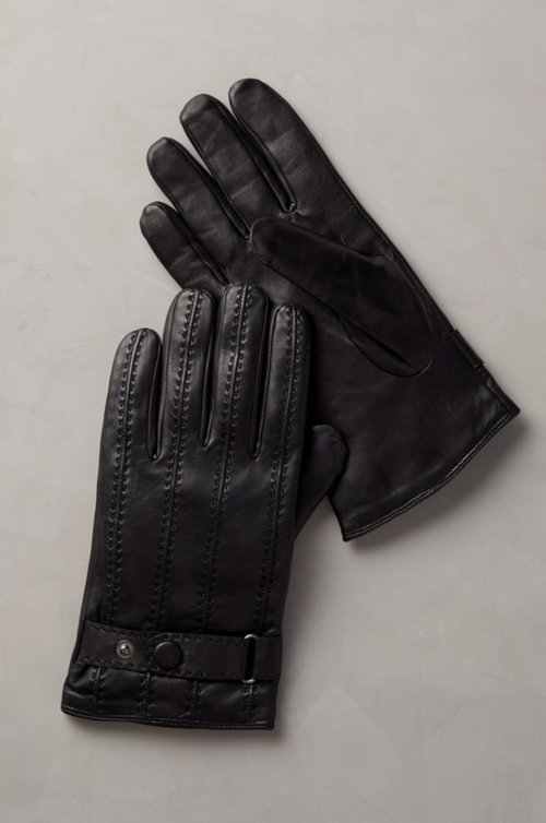 Men's Balsam Cashmere-Lined Lambskin Leather Gloves