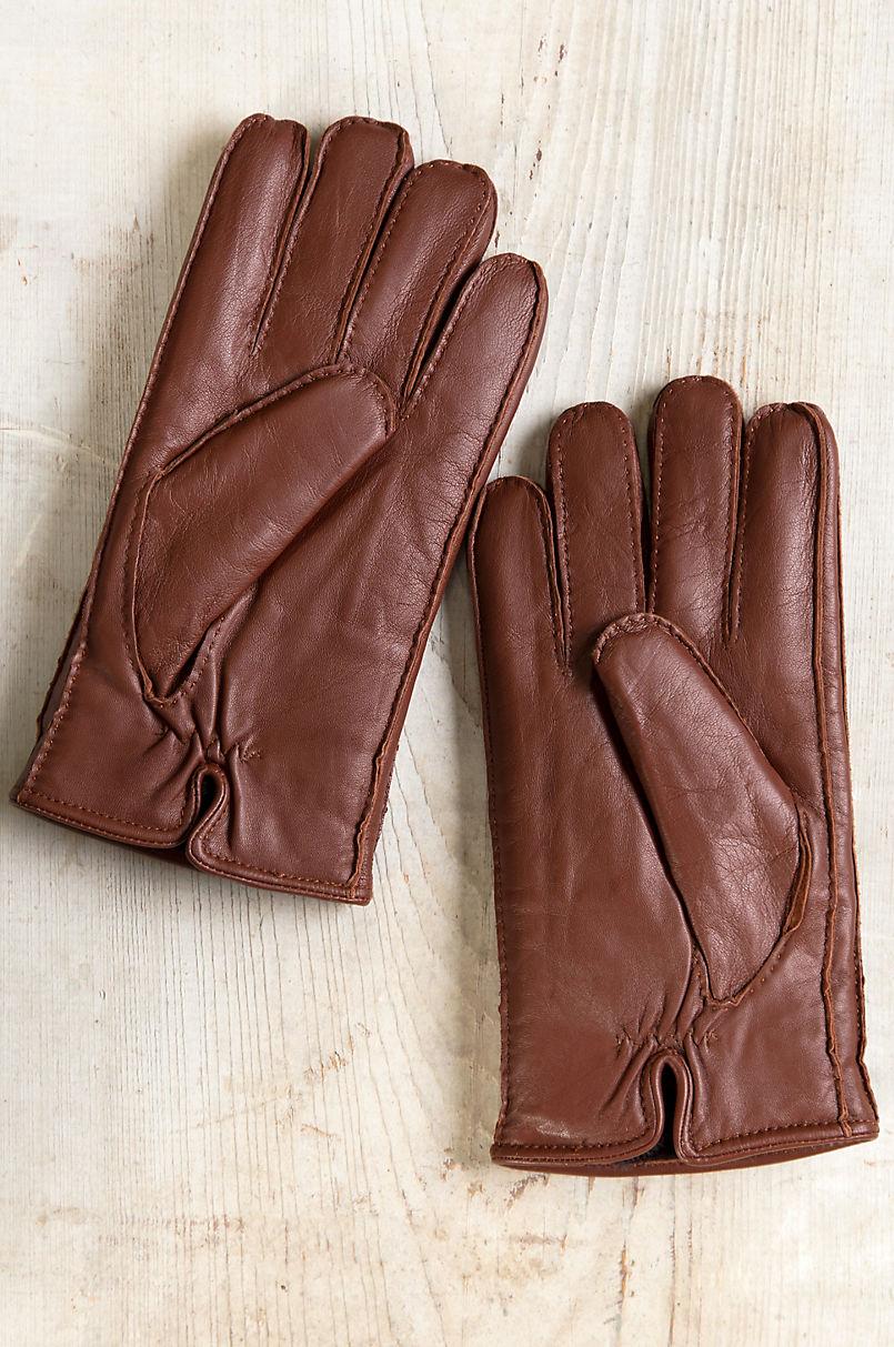 Men's Douglas Shearling-Lined Lambskin Leather Gloves