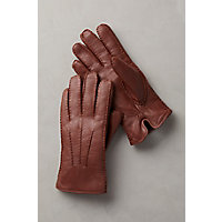 Roaring Twenties Themed Clothing Mens Shearling-Lined Lambskin Leather Gloves COGNAC Size XLARGE 10 $99.00 AT vintagedancer.com