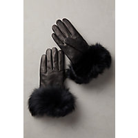 Vintage Style Gloves- Long, Wrist, Evening, Day, Leather, Lace Womens Dents Glamis Silk-Lined Leather Gloves with Rabbit Fur Trim BLACKBLACK Size 8 $99.00 AT vintagedancer.com