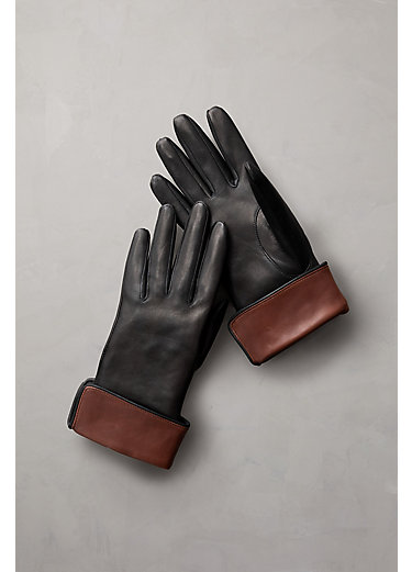 Women's Silk-Lined Lambskin Leather Gloves