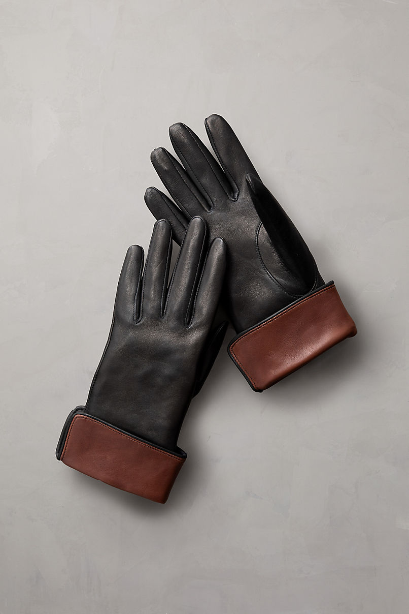 Women's Sumac Silk-Lined Lambskin Leather Gloves