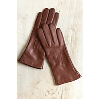 Vintage Style Gloves- Long, Wrist, Evening, Day, Leather, Lace Womens Cashmere-Lined Lambskin Leather Gloves COGNAC Size 8 $69.00 AT vintagedancer.com